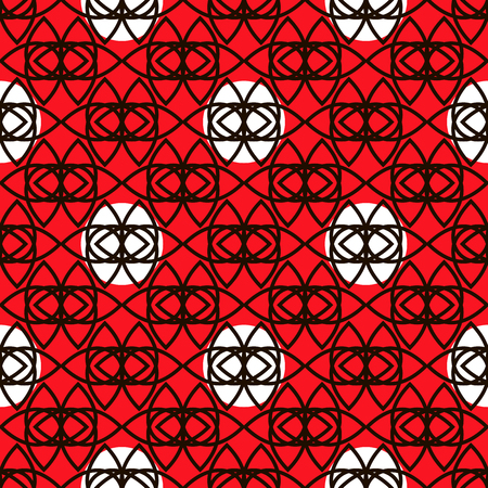 Decorative pattern with abstract details . Vector seamless texture.For printing on packaging, textiles, paper and other materials.  イラスト・ベクター素材