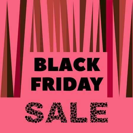 Black Friday design banner illustration.