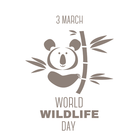World Wildlife Day poster. Cute koala bear.