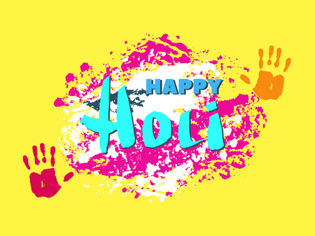 Traditional Indian festival Holi. Bengali New Year.Template for banner, poster. Holiday of spring.Vector illustration. Illustration