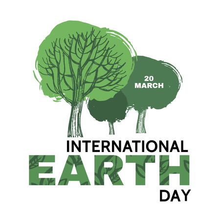 International Earth Day. Template poster, banner, postcard. Vettoriali