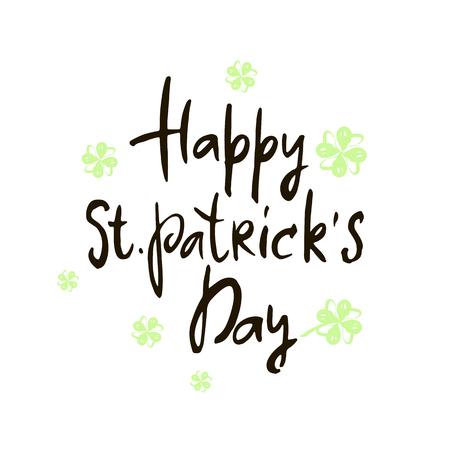 St. Patricks Day greeting card.Patricks Day Background.Vector illustration.