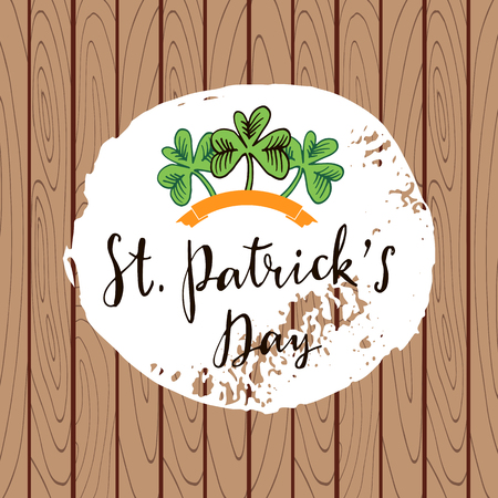 St. Patricks Day greeting card background vector illustration.