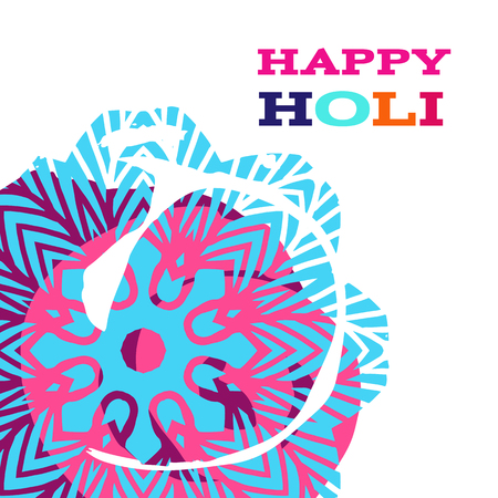 Traditional Indian festival Holi. Bengali New Year. Template for banner, poster. Holiday of spring. Vector illustration.