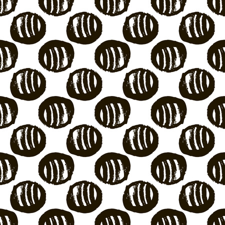 Decorative pattern with abstract details . Contemporary stylish texture.Vector seamless texture. Monochrome handdrawn  graphic design.For printing on packaging, textiles, fabric, paper and bags. 版權商用圖片 - 96579033