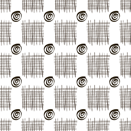Decorative pattern with abstract details . Contemporary stylish texture vector seamless texture. Monochrome hand drawn graphic design for printing on packaging, textiles, fabric, paper and bags.