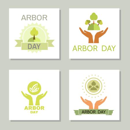Arbor Day. Ecology concept design.Vector illustration. Illustration