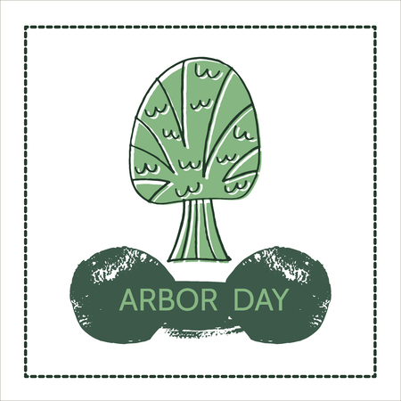 Arbor Day. Ecology concept design.Vector illustration. Illustration