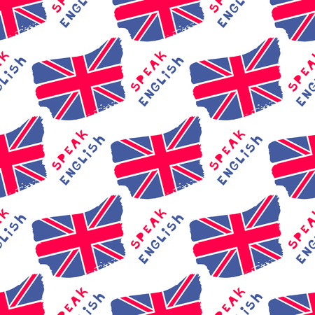Decorative and seamless United Kingdom flag pattern. Illustration
