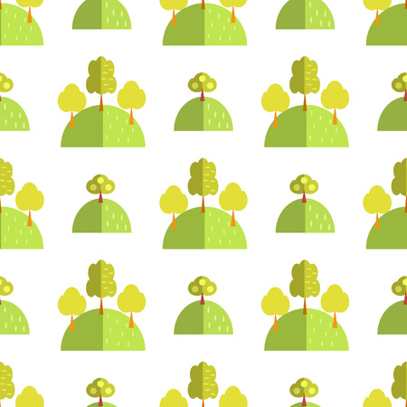 Decorative seamless pattern with trees.
