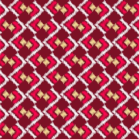 Geometric ethnic oriental ikat  seamless pattern. Illustration