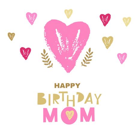 Happy birthday mom greeting card design vector illustration happy birthday mom greeting card design vector illustration stock vector 97578849 m4hsunfo