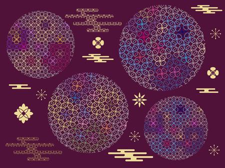 Japanese art background vector illustration.