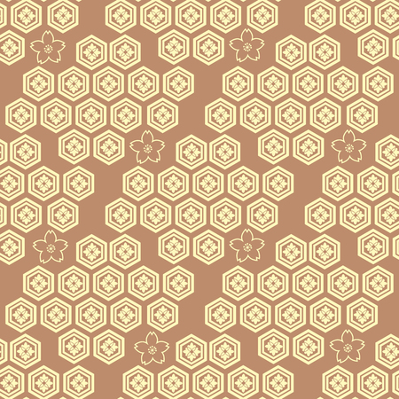 Beautiful Japanese seamless pattern with Asian elements vector unique seamless Asian texture. For printing on packaging, textiles, paper, manufacturing, wallpapers, bags, scrapbook.