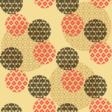 Beautiful japanese seamless  pattern with  abstract japanese  elements. Vector unique seamless asian texture.For printing on packaging, textiles, paper,book covers, manufacturing, wallpapers,bags, scrapbooking. Illustration