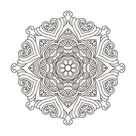 Mandala Coloring Book,outline Mandalas Inspired Arabian And Indian ...