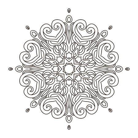 Mandala Coloring Bookoutline Mandalas Inspired Arabian And Indian