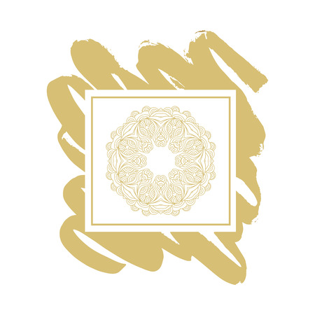 Gold mandala.Vintage ethic decorative mandala element.For the design and decoration background, packaging, fabrics, textiles.