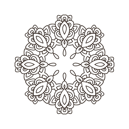 Mandala Coloring Book,outline Mandalas Inspired Arabian And Indian ...