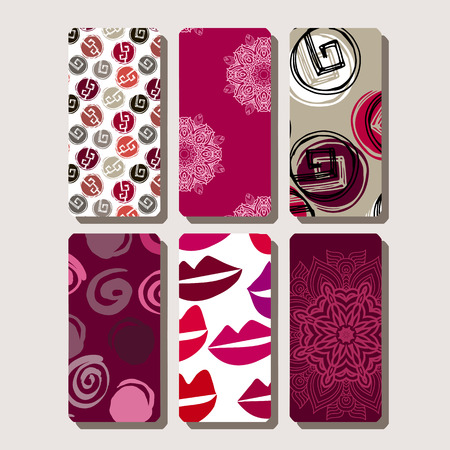 Set of phone case. Template design.Collection of fashionable colors.