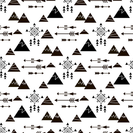 Decorative tribal pattern design for fabric