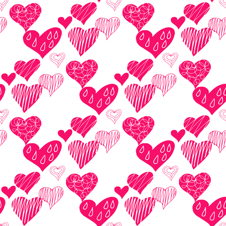 Decorative seamless pattern with  hearts.Vector seamless texture.For printing on packaging, textiles, paper and other materials.