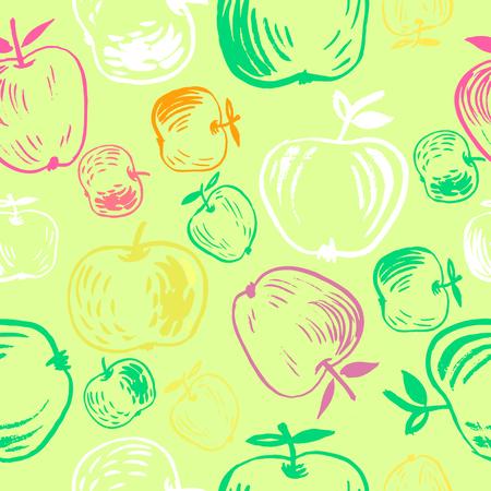 Hand drawn fruit pattern design