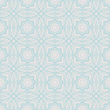 Vector seamless pattern mandala print.Vintage decorative elements.