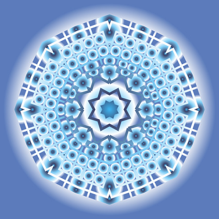 Mandala neon round ornament. Vector mandala print.Vintage decorative elements. Hand drawn background.