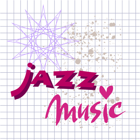Music poster template.Hand drawn design music poster illustration.Vector.  イラスト・ベクター素材