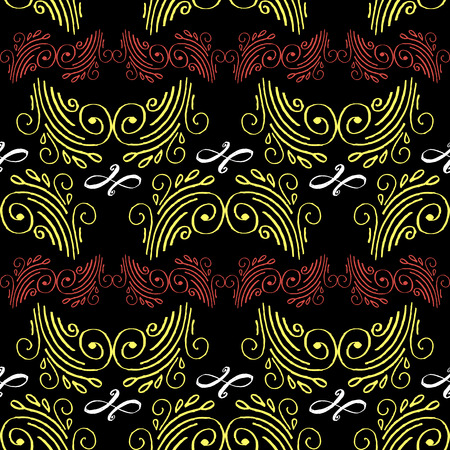 Seamless hand drawn decorative pattern with abstract details..For printing on packaging, textiles, paper.