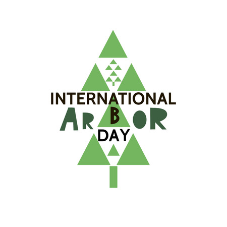 Arbor Day ecology concept design. Vettoriali
