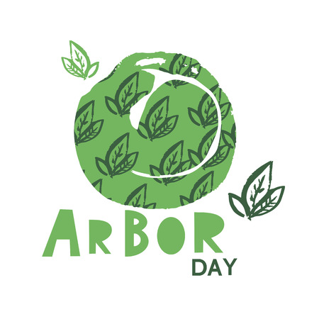 Arbor Day ecology concept design. Illustration