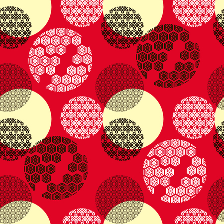 Beautiful japanese seamless  pattern with japanese elements. Vector unique seamless asian texture.For printing on packaging, textiles, paper,book covers, manufacturing, wallpapers,bags, scrapbooking.