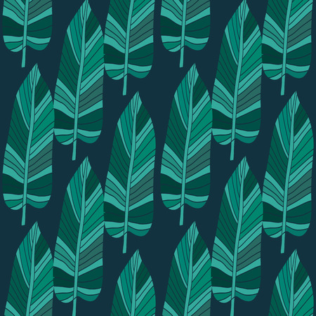 Decorative seamless pattern with leaves.  Beautiful floral background  for the design and decoration. Stylish trendy fabric. Modern  floral  wallpaper. Vintage. Vector illustration. Foto de archivo - 100322828