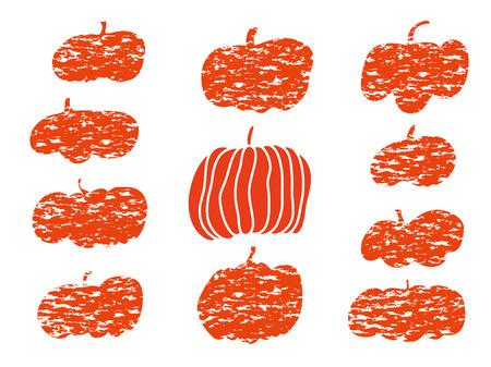 Set of vector pumpkins for poster, banner, design. Vector illustration.