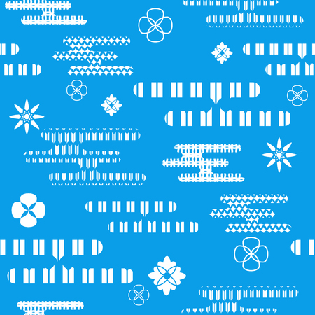 Beautiful japanese seamless  pattern with asian elements  and flowers. Vector unique seamless asian texture.For printing on packaging, textiles, paper, manufacturing, wallpapers,bags, scrapbooking.