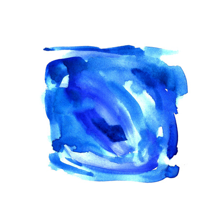 Watercolor background .Beautiful  abstract  background. Ink  blue splatter watercolour . Hand drawn texture, surface elements.