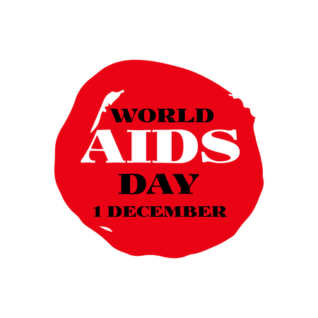 World Aids Day 1 December . Template poster, banner.Vector illustration. Vector concept of aids awareness.