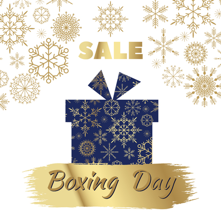Boxing Day. Template poster, banner, greeting card. Vector illustration. Illustration