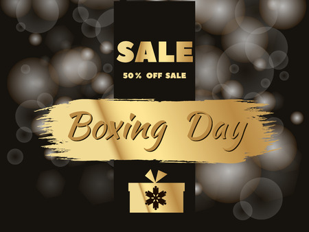 Boxing Day. Template poster, banner, greeting card. Vector illustration. 矢量图像