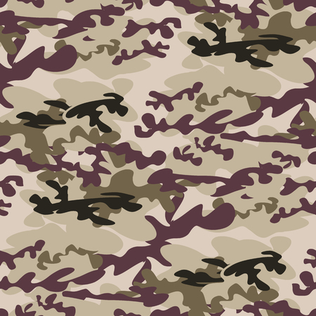 Beautiful camouflage seamless pattern. Military design. For printing on packaging, textiles, paper, manufacturing, wallpapers, soldier material, brutal fashion, backdrop or wrapping , paper. Vector illustration. Banque d'images - 101686035