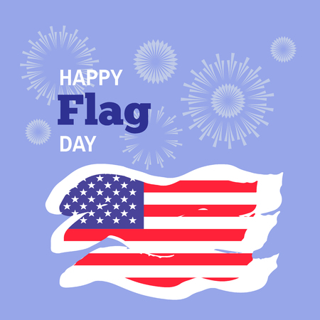 Happy Flag day   - template  retro poster,  banner for design. Vector illustration. Ilustrace