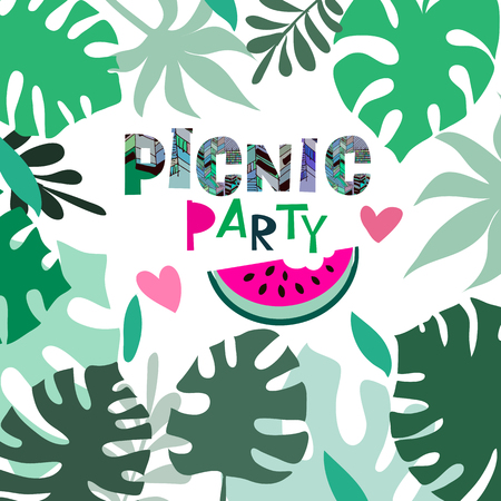 Summer picnic party template poster party invitation card summer picnic party template poster party invitation card royalty free cliparts vectors and stock illustration image 104027730 stopboris Choice Image