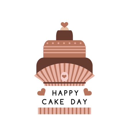 International Cake Day.Template poster, party invitation, greeting card.  July 20. Vector illustration.