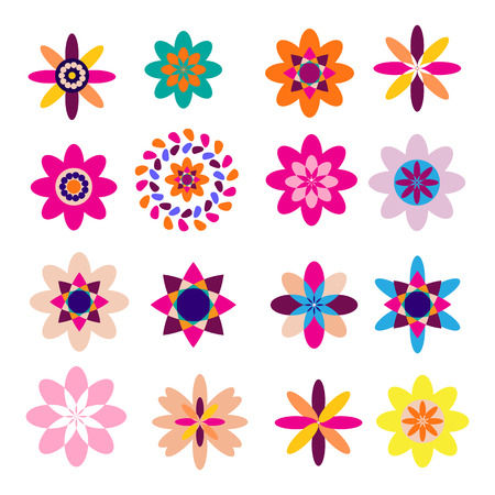Dia de Los Muertos, Day of the Dead  collection  colorful flowers mexican. Template  flat elements for mexican celebration, traditional mexico skeleton decoration. Illusztráció