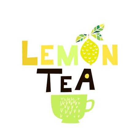 International Tea day. Template poster, banner, menu, label, postcard in flat cartoon style. Vector illustration. Standard-Bild - 111791731