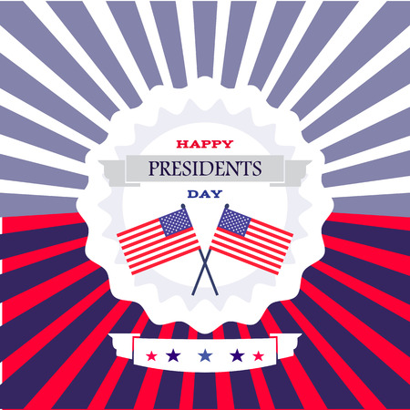 Happy President  day,  Template poster banner design  . Vector illustration.