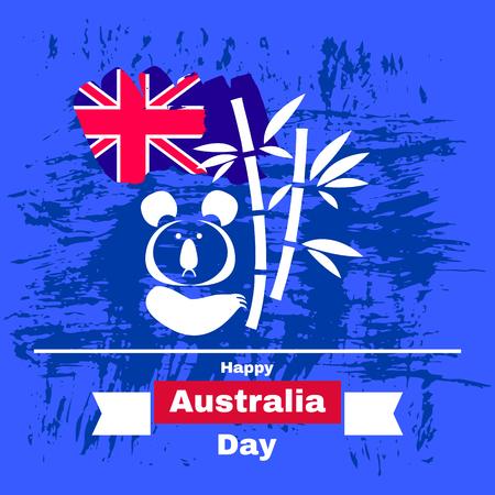 Australia Day. Banner for Australia National Day with Australia National Flag . Vector illustration.