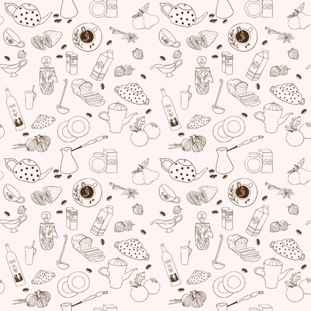 Seamless vector kitchen background  Vector